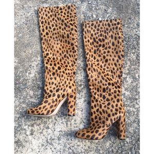 Leopard Tall Knee Boot